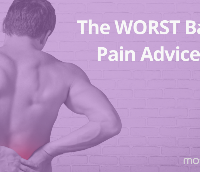 The WORST Back Pain Advice?