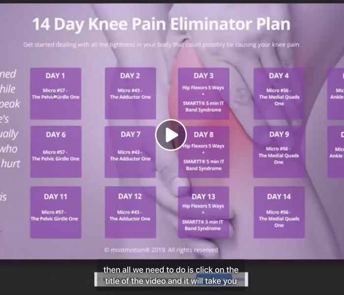 The BEST step-by-step process for fixing your own knee pain?