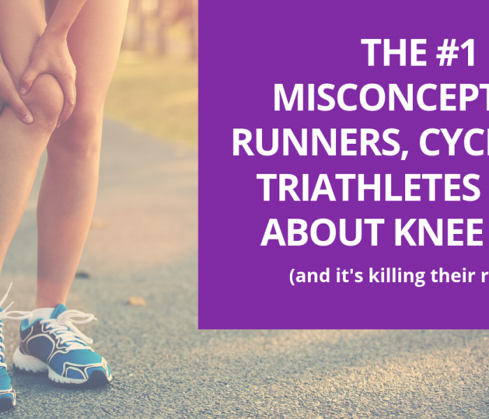 The #1 Misconception Runners, Cyclists & Triathletes Have About Knee Pain (and it's KILLING their results)