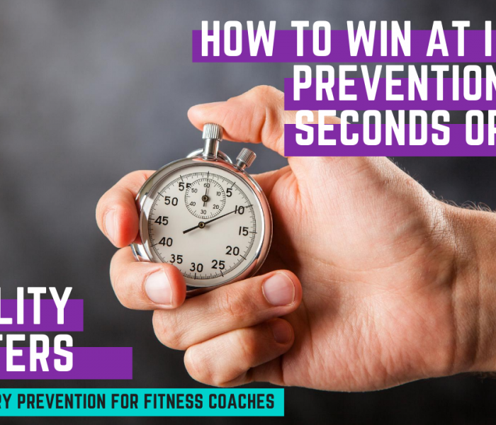 How to Win at Injury Prevention in Less Than 60 Seconds? [Video]