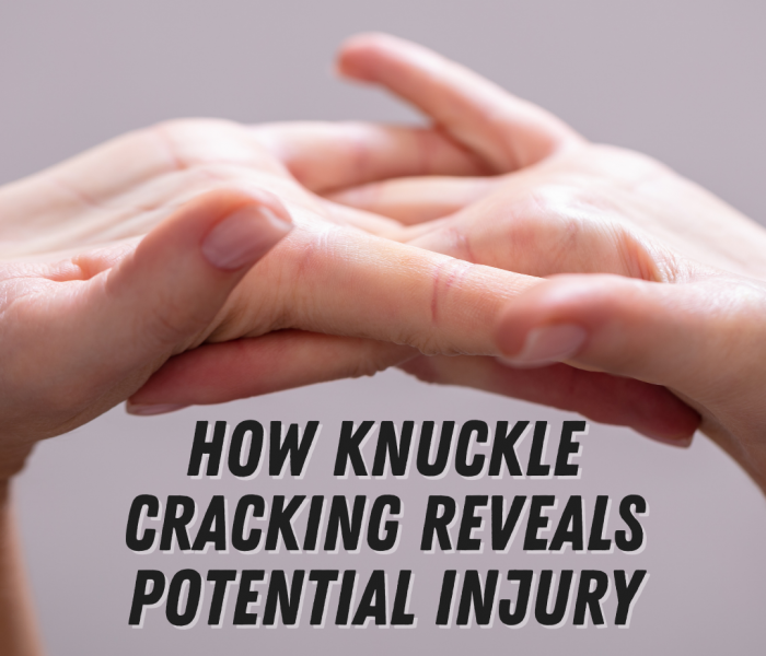 How Knuckle Cracking Reveals Potential Injury